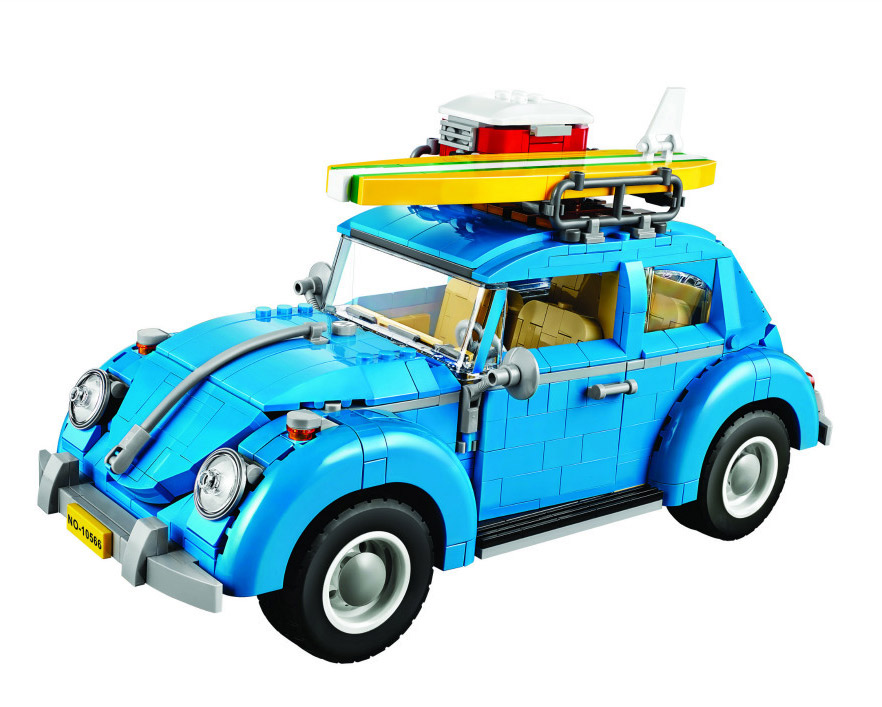 Bela 10566 Creative Series Beetle Camping Car City Car Volkswagen Model Building Kit Blocks Bricks Toy Gift 21003 lepin 21003 1193pcs creator technic series blue city car volkswagen beetle model building blocks bricks compatible 10252 toys