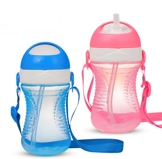 320ml High Quality Baby Water Bottles With Straw Healthy Material Kids Learn to Drink Bottle BPA Free