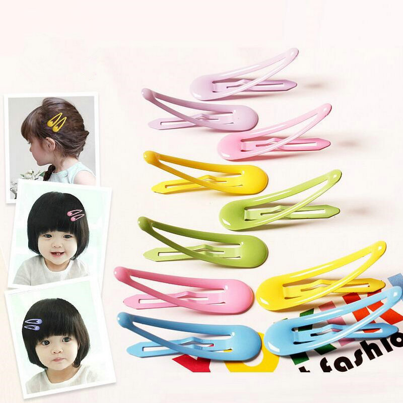 10pcs Lot Candy Color Kids Hair Snap Clips Toddler Oil Protect Barrette Child Hairpin School Girl Useful Basic Accessories J97 In From