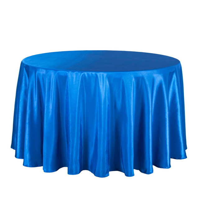 10PCS Solid Satin Tablecloth Round Hotel Party Wedding Table Cover Blue  Pink Red White Table Cloths