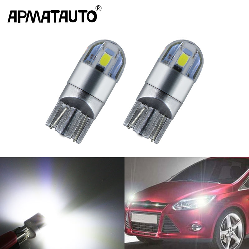 >2x T10 W5W LED Wedge Light Marker Lamps Bulb For Focus 2 1 Fiesta Mondeo 4 3 Transit Fusion Kuga <font><b>Ranger</b></font> <font><b>Mustang</b></font> <font><b>KA</b></font> S-max