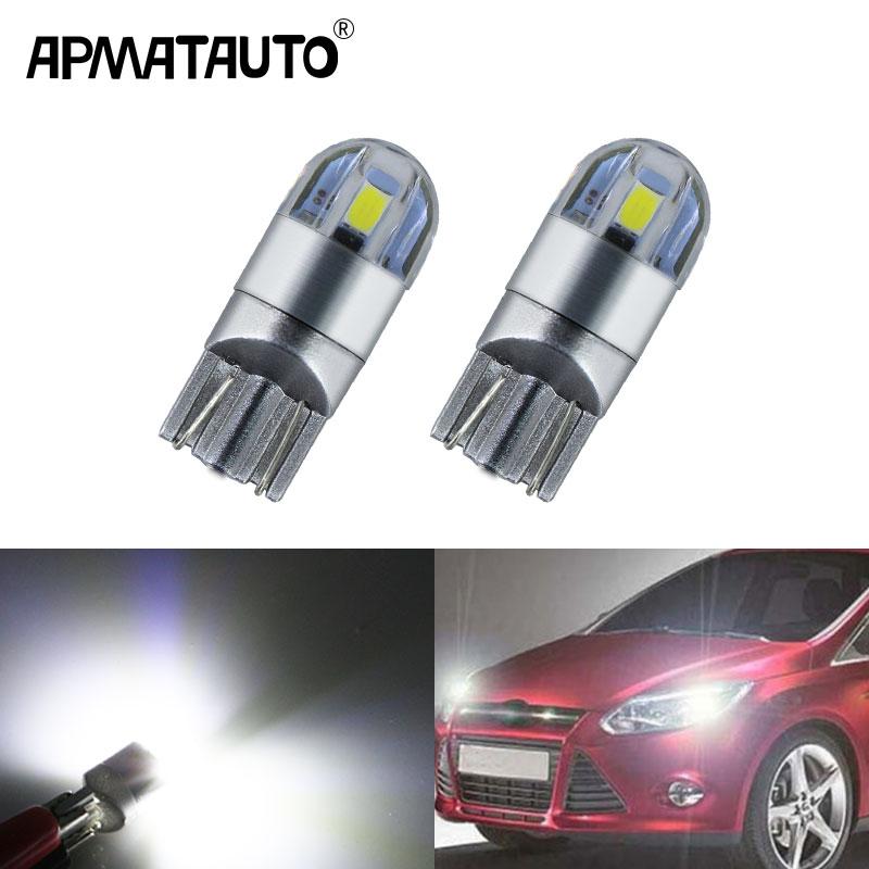 >2x T10 W5W LED Wedge Light Marker Lamps Bulb For Focus 2 1 Fiesta Mondeo 4 <font><b>3</b></font> <font><b>Transit</b></font> <font><b>Fusion</b></font> Kuga Ranger Mustang KA S-max