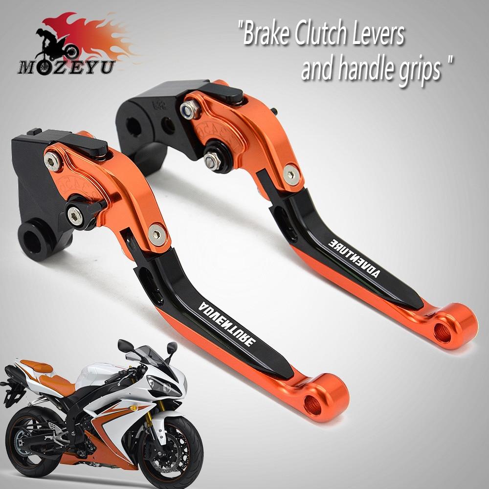Pour KTM 640 950 990 1090 1190 aventure Super aventure 1290 1050 accessoires de CNC de moto leviers d'embrayage de frein réglables
