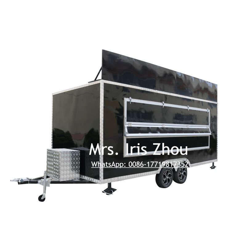 Mobile Smoothie Truck Food Truck Mobile BBQ Trailer For Sale