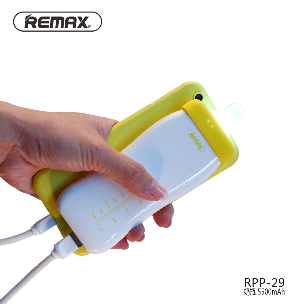 Remax RPP-29 batterie externe 5500 mAh Mini Mikl bottel conception alimentation externe sauvegarde PowerBank téléphone grande capacité PowerBank universel