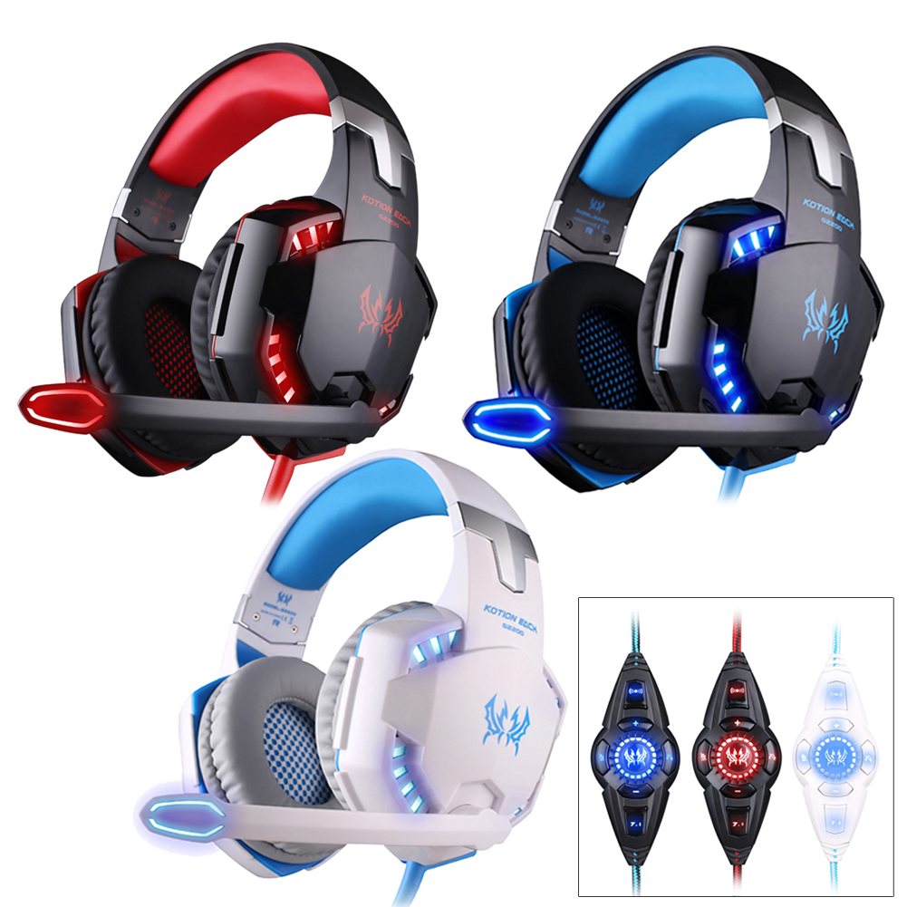 YCDC KOTION G2200 3.5mm Earphone Gaming Headset KOTION EACH G2200 USB2.0 Gaming Headphone Vibration Headset+Mic Cool LED each g1100 shake e sports gaming mic led light headset headphone casque with 7 1 heavy bass surround sound for pc gamer
