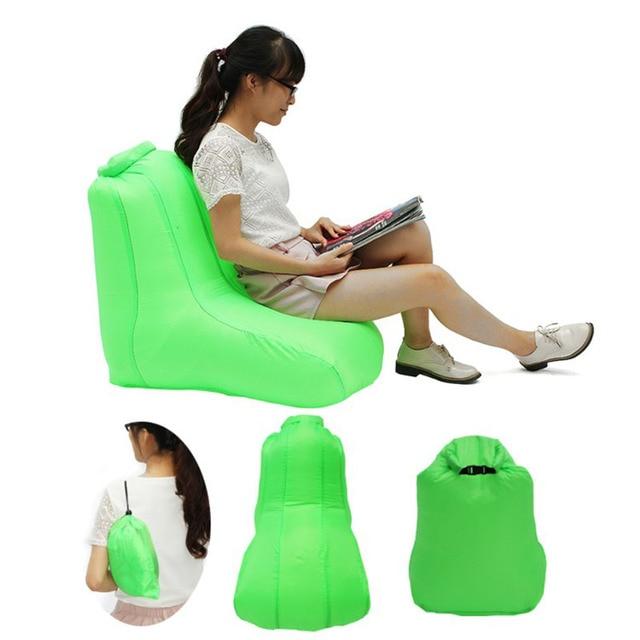Cadeira Sofá Preguiçoso Sofá de Ar inflável Camping Piscina Acessórios Festival de Verão Para Praia Ar Dobrável Bolsa Saco Sofá Beanbag