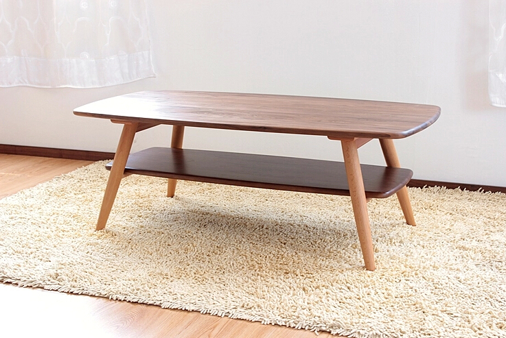 Aliexpress Com Buy Solid Wood Walnut Coffee Table Black Living Room Furniture Side Table Japanese Style Floor Sofa Center Table Wooden From Reliable Sofa