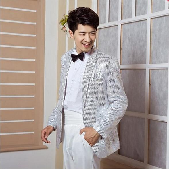 f03ea3a9852e2 Aliexpress.com : Buy Hot Sale 2019 Men's High grade Sequins Blazer Dress  the host stage suit Men performance studio clothing Suits / M XXXL from  Reliable ...