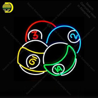 Neon Sign Ball Billiards Neon Signs for Game Room Restaurant Glass Tubes Neon Bulbs Signboard decorate wall Handcraft Bar sign