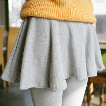 Sexy Leggings Skirts Grey Black Slim Fit High Elasticity Fashion Women Pants False two-piece Leggings Skirt image