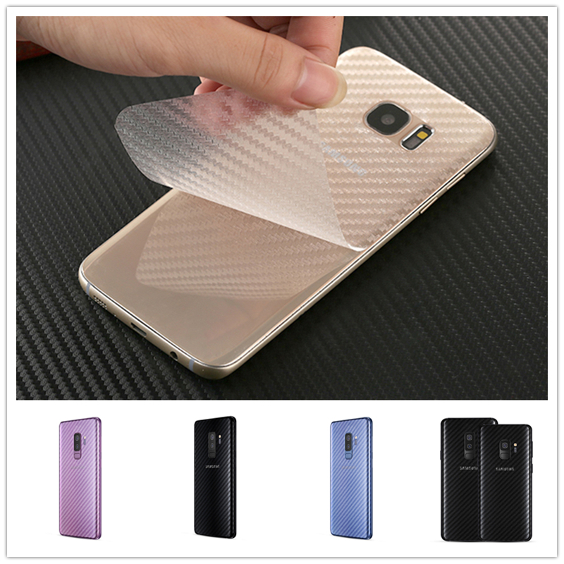 5 Pcs/lot Cases for Phone for Samsung Galaxy S7 Edge S10 S9 S8 Plus Note 9 8 A5 2017 Carbon Fiber Back Protector Film Cover Case image