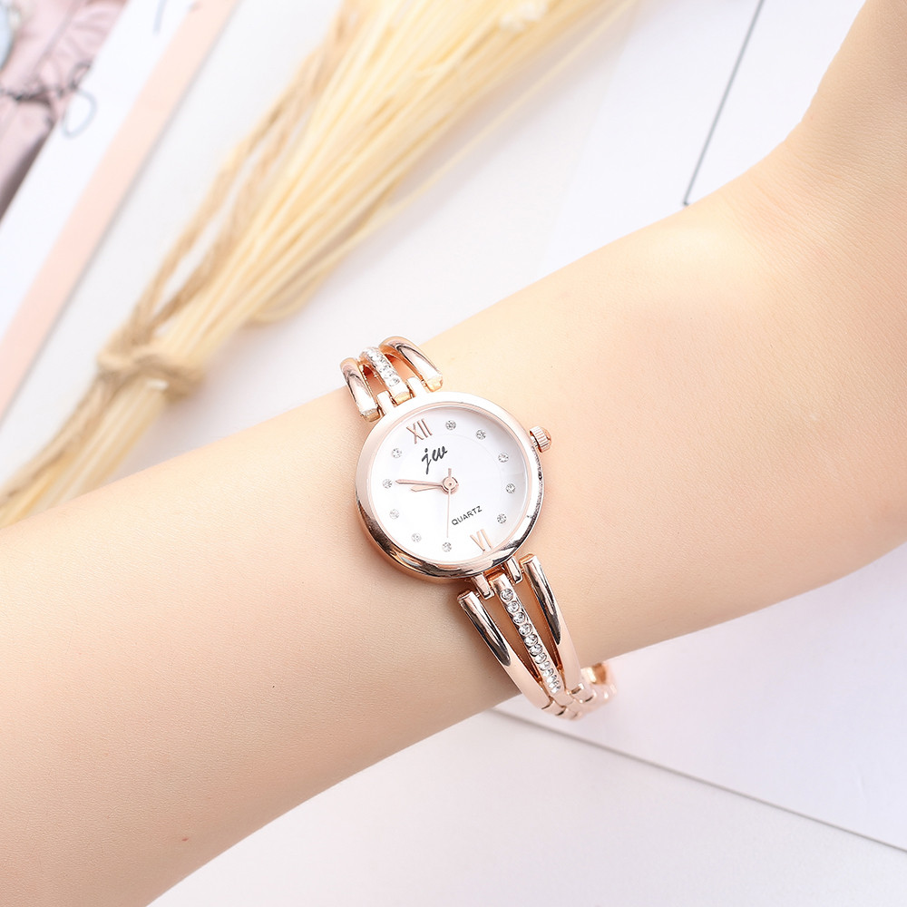Women Fashion Stainless Steel Band Analog Quartz Round Wrist Watch Watches relogio feminino women watches reloj mujer