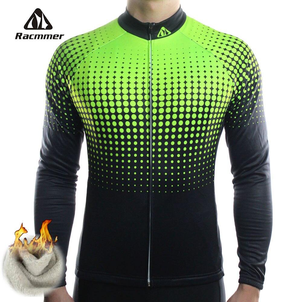 Цена за Racmmer Зима 2017 Длинные Pro Тепловая Руно Велоспорт Джерси Мужчины Clothing Велосипед Майо Ciclismo Велосипед Одежда # ZR 14 Equipacion
