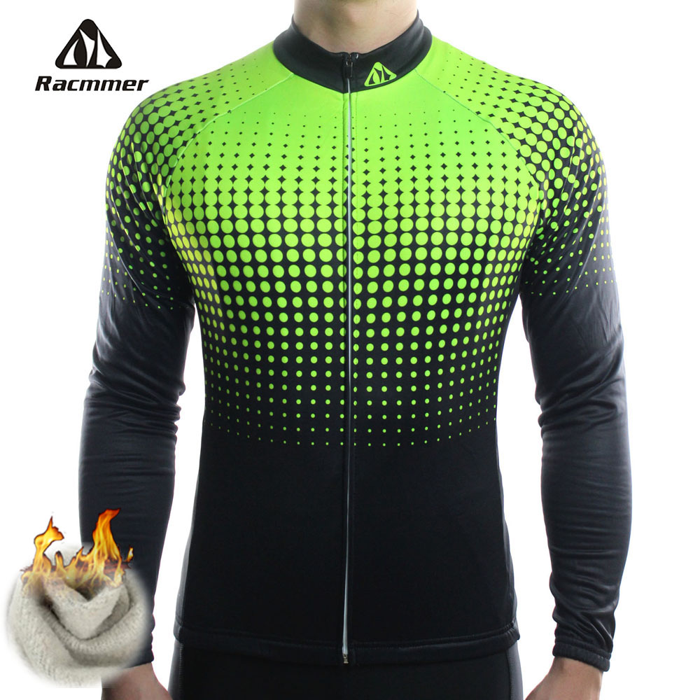 Racmmer Winter 2018 Long Pro Thermal Fleece Cycling Jersey Men Clothing Bicycle Maillot Equipacion Ciclismo Bike Clothes #ZR-14 racmmer cycling gloves guantes ciclismo non slip breathable mens