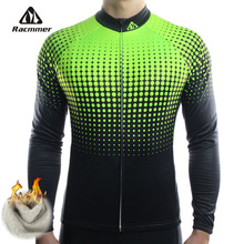 Racmmer Winter 2020 Long Pro Thermal Fleece Cycling Jersey Men Clothing Bicycle Maillot Equipacion Ciclismo Bike Clothes #ZR 14
