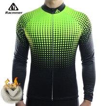 Racmmer zima 2020 długi Pro Thermal Fleece jazda na rowerze Jersey mężczyźni odzież strój kolarski Equipacion Ciclismo Bike odzież # ZR 14