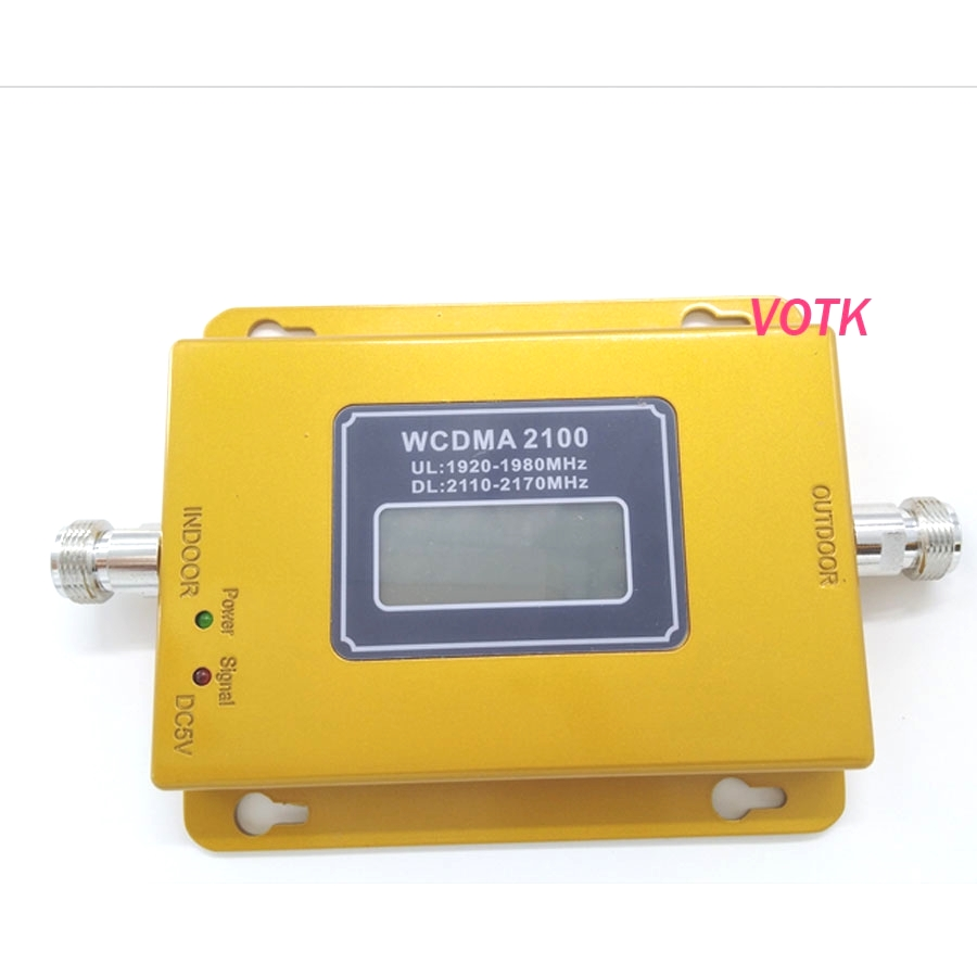 Nouveau amplificateur de répéteur de Signal Mobile 3G Booster de Signal 3g, affichage LCD Mini 70db 3G LTE WCDMA UMTS 2100 Mhz 3G répéteur