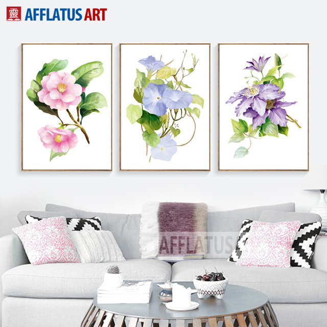 Flowers Posters And Prints Wall Art Home And Kitchen