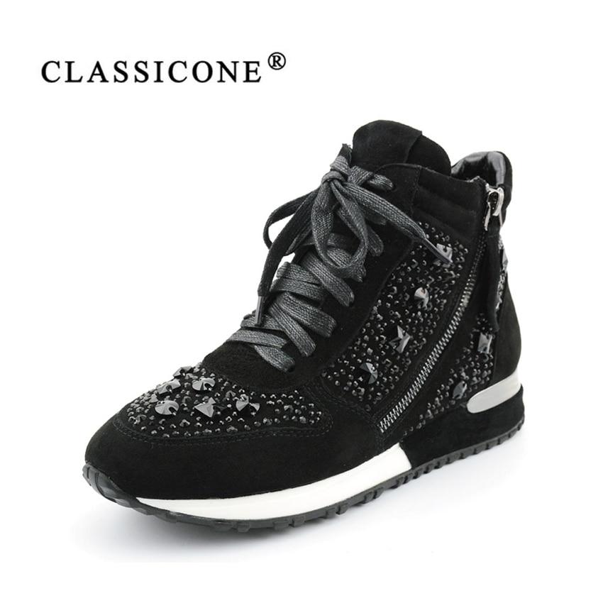 grau Frau Classicone Marke Schwarzes Mode Stiefeletten Turnschuhe Stiefel 2017 Wildleder Winter Warme Wohnungen Stil Schuhe Leder Wolle Aus Echtem Frauen FrEFHxq