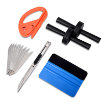 EHDIS Vinyl Car Wrap Tool Kit 3M Felt Squeegee Snitty Cutter Knife With Blades Carbon Fiber
