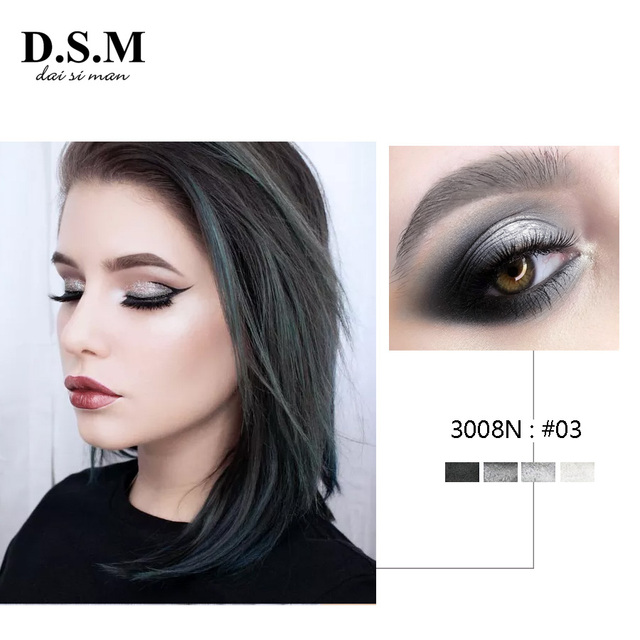 D.S.M Brand New Mineralize Eye Shadow 4 Colors Waterproof Eyeshadow Makeup Metallic Luminous Perfect Shades Eyeshadow Palettes 2