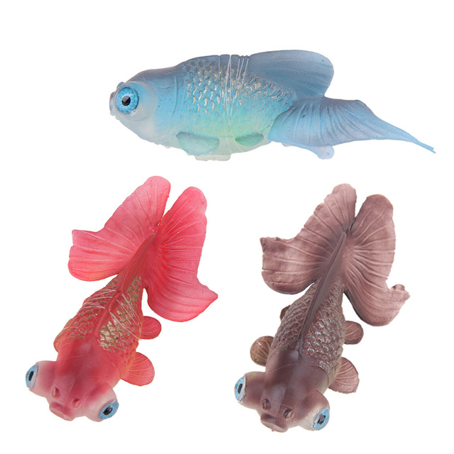 1 pcs Artificial Fish Toy Silicone Swim Toy Fish Fishing Tank Fish Aquatic Aquarium Ornaments Decorations Pet Supplies