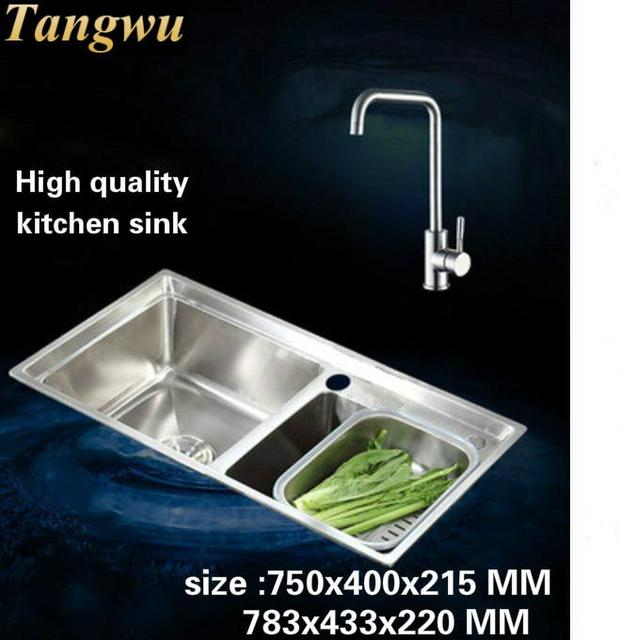 Tangwu High quality 304 stainless steel kitchen sink double groove ...