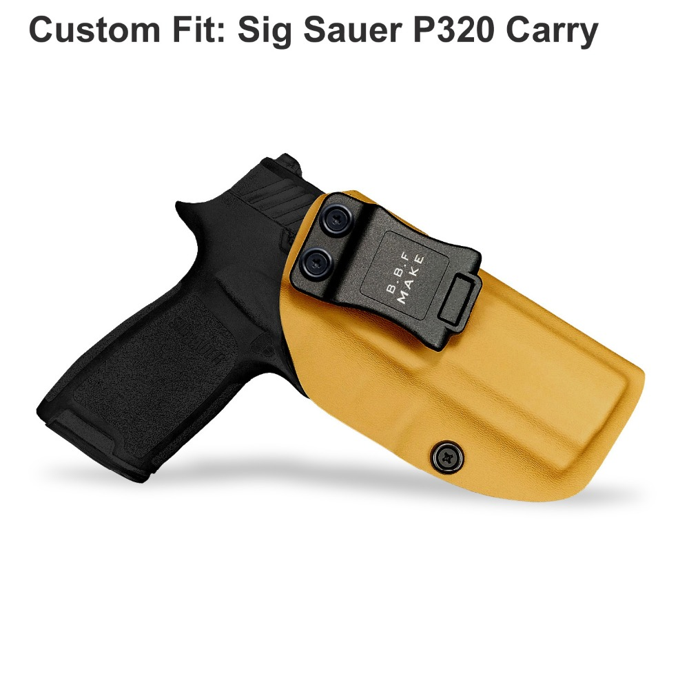 B.B.F Make IWB KYDEX Holster Fit: Sig Sauer P320 Carry Compact Gun Holster Inside Concealed Waist Carry Holsters Pistol Case