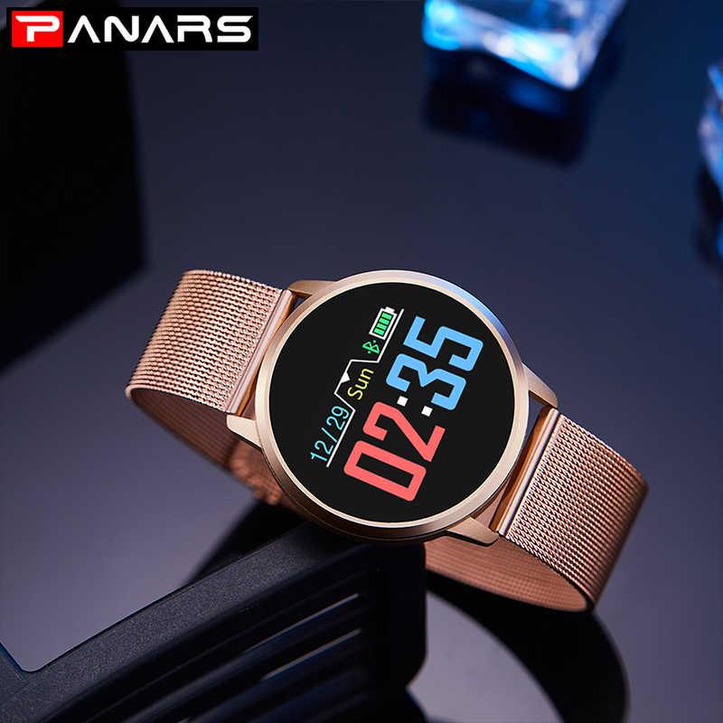 PANARS חכם שעון גברים אנדרואיד עמיד למים שעונים דיגיטלי ספורט חכם שעון נשים שעוני יד Mens Montre Femme נשים שעונים