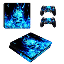 Bevigac Mini Portable Game Machine Stickers Set Game Controller Host Handle Cover Skin Decoration Accessory for PS4 P S 4 Slim