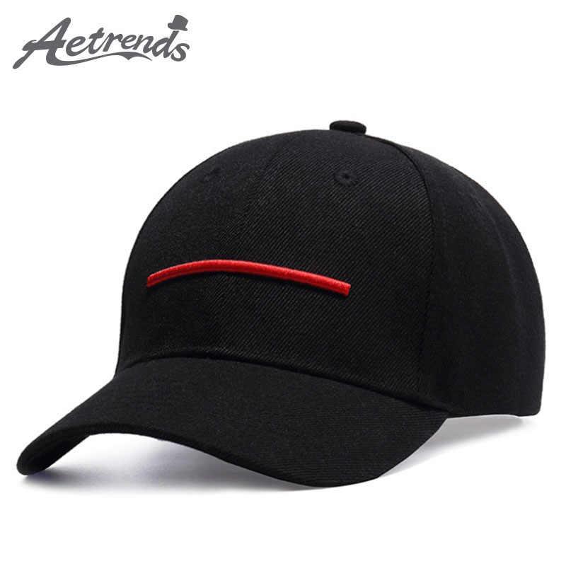 [AETRENDS] موضة الأحمر خط قبعة مطرزة شعار snapback الهيب هوب ماركة قبعات البيسبول للرجال النساء في الهواء الطلق الرياضة القبعات Z-5277