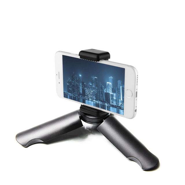GAQOU Mini Tripod for Smartphone/Phone Holder Stand Tripod Monopod for Gopro 6/Smooth Q/DJI OSMO Portable Collapsible Tripode