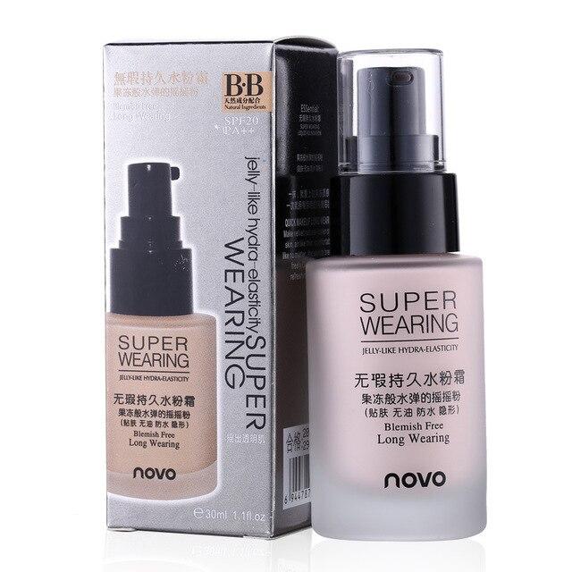 Super Wearing Blemish Free Liquid Foundation BB Cream Makeup SPF 20 Whitening Concealer Moisturizing Brighten & Smooth 30Ml