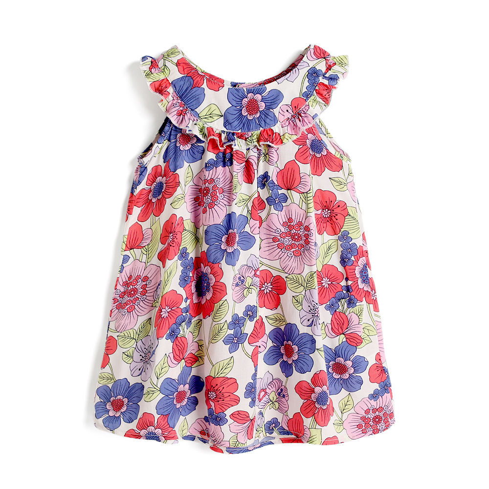 Summer Infant Baby Girls Clothing Floral Lemon Dress Kids