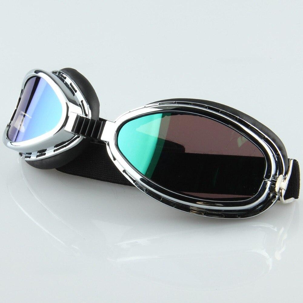 Sonderabschnitt Outdoor Kunststoff Brillen Silber Rahmen Uv Schutz Gläser Motorrad Goggle Ski/skate/snowboard Motocross Brille Cafe Racer Und Verdauung Hilft