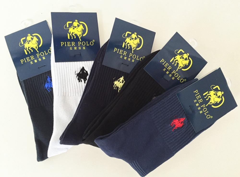 1c4c87c6a8fb 5pairs/lot PIER POLO Brand Men Socks Embroidery Winter Man Socks ...