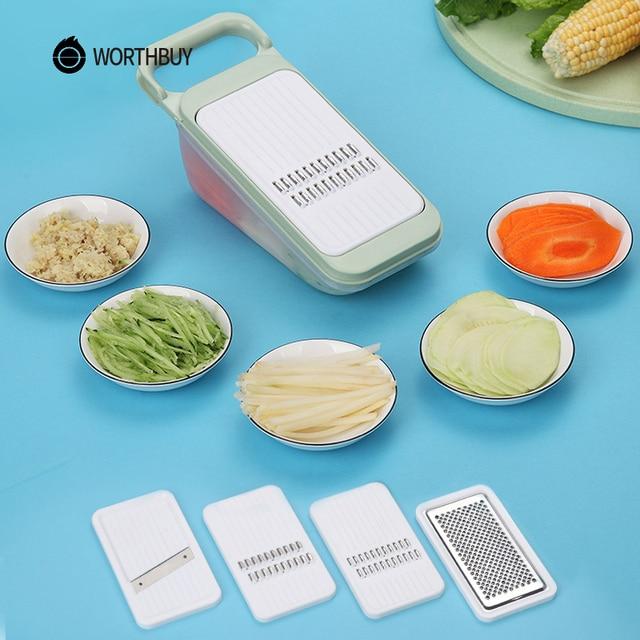 WORTHBUY Терка-шиновка для овощей резак с лезвие из нержавеющей стали Овощной измельчитель для картофеля морковь терка для кухни аксессуары