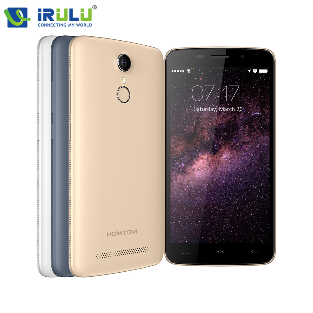 Цена за IRULU Оригинальный HOMTOM HT17 5.5 дюймов 1280x720HD 4 Г FDD Android 6.0 Отпечатков Пальцев Quad Core 1 ГБ + 8 ГБ 13MP Новый Смарт Мобильный Телефон