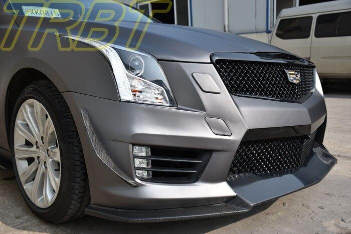 Cadillac Ats V >> ATS V Canards Carbon Fiber Front Bumper Lip Splitter Fins Body Spoiler Canards CF Air knife Case ...