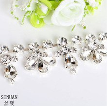 SINUAN Strass Chain Sew-On Cristais Yard Crystal Decoration Tape Stones And Crystals For Crafts Glass Garment Diy Rhinestones