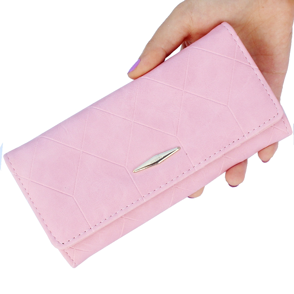 New fashion Ling grid embossed wallet purse women,Ladies clutch long purse,Female Hasp wallet coin purse card holder Carteira #0 fashion girl change clasp purse money coin purse portable multifunction long female clutch travel wallet portefeuille femme cuir