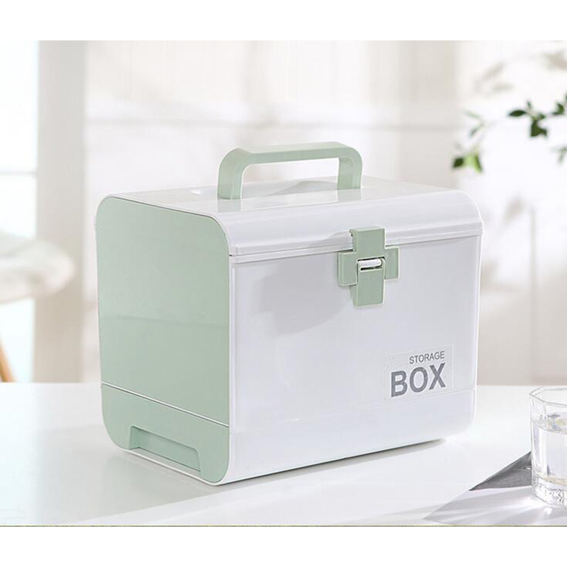 Portable Household Pill Box Multi Function First Aid Kit Medical Make UP Organizer Large Size Plastic