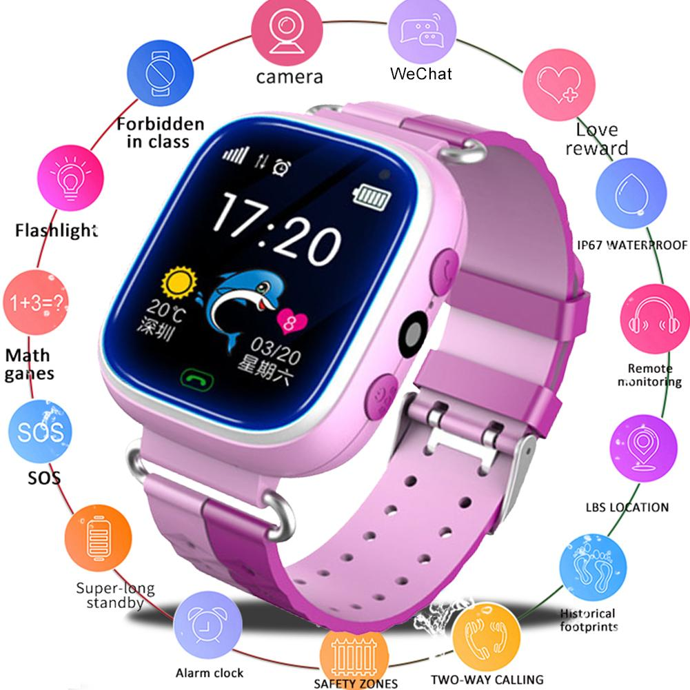 Smart-Watch Android Waterproof Kids Electronic for Boys Girls Plug-Card Multi-Function
