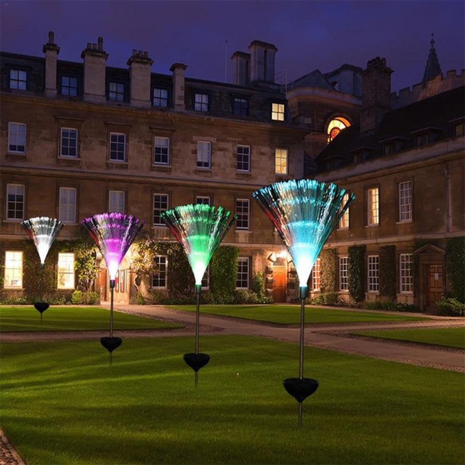 Power Led Lawn Decorative Lamp Garden Yard Light Lampfibre Novelty Changing Color Solar Night Lights Aliexpress