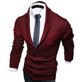 Primavera Outono Camisolas Dos Homens Exclusivos Simples Com Decote Em V manga comprida Malhas Blusas Masculinas slim fit Camisolas do Casaco para homens