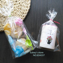 50pcs/lot 3size plastic packaging bags 14.5x23.5cm Clear Cellophane Bag Christmas Cookie Bag Bakery Gift Packing(China)