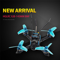 HGLRC XJB 145MM FPV Racing Drone BNF Compatible For FrSky XM+ Receiver F4 28A 2 4S Blheli_S ESC RC Quadcopter Blue Purple