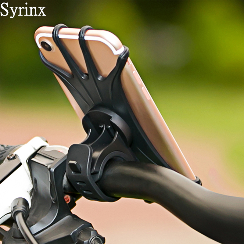 Universal Silicone Bicycle Motorcycle Handlebar Mount Holder 360 Degree Flexible Bike Mount Phone Holder For Iphone Samsung GPS
