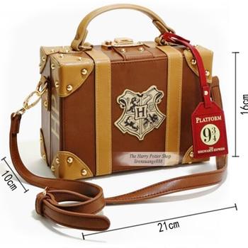 Фигурку игрушки для Харри сумка Поттера Хогвартс PU школьный значок чемодан сумка Хэллоуин Рождественский пакет Новый косплэй